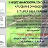 IX Międzynarodowa Szkoła Letnia Nauczanie o Holokauście - zaproszenie