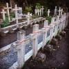 Niszczejące polskie kwatery na Cmentarzu Janowskim