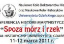 """Konferencja: """"Spoza mórz i rzek"""""""