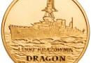 """Lekki krążownik """"Dragon"""" - nowa moneta NBP z serii """"Polskie okręty"""""""
