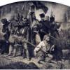 Armaty z drewna i beczek po kapuście