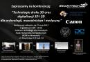 """""""Technologie digitalizacji oraz druku 3D i 2D dla archeologii, muzealnictwa i medycyny"""" - Zaproszenie"""