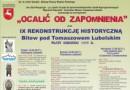 IX rekonstrukcja bitew pod Tomaszowem Lubelskim 2017