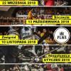 Polska Liga Walk Rycerskich 2018/2019. Terminy i lokalizacje turniejów