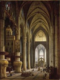 Kolejne utracone dzieło odzyskane. Obraz Wnętrze katedry w Mediolanie powrócił do Polski
