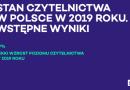 Niewielki wzrost czytelnictwa w Polsce. W 2019 39% Polaków przeczytało co najmniej 1 książkę