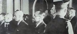 Ława oskarżenia w procesie szesnastu - Moskwa, czerwiec 1945