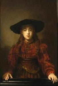 Dziewczyna w ramie Rembrandt