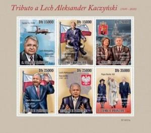 Lech Kaczyński na znaczkach 10