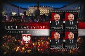 Lech Kaczyński na znaczkach 6