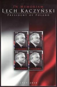 Lech Kaczyński na znaczkach 8