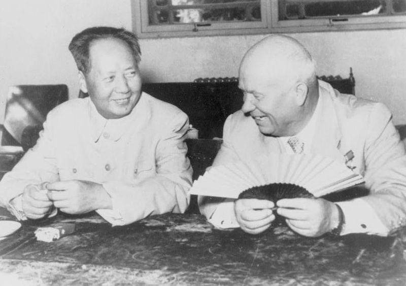 Mao Zedong i Nikita Chruszczow, 1958 r.