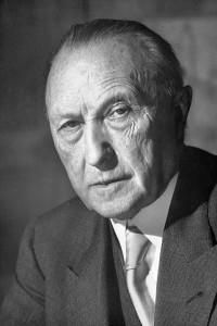 Konrada Adenauer / fot. Bundesarchiv, B 145 Bild-F078072-0004, Katherine Young, CC-BY-SA