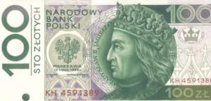 100 zł Jagiełło