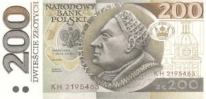 banknoty polskie jakie moglismy uzywac