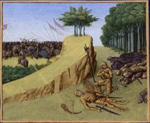 Śmierć Hrabia Rolanda w bitwie