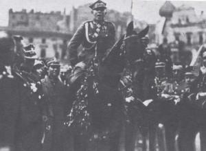Wojsko Polskie na czele z gen. broni Stanisławem Szeptyckim wkracza do Katowic, 22 czerwca 1922 r.