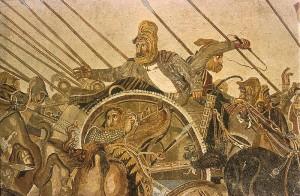 Dariusz III uciekający po bitwie pod Issos (Museo Archeologico Nazionale, Neapol)