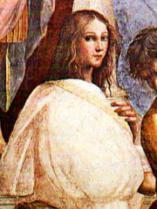 """""""Hypatia"""", detal ze Szkoły ateńskiej Rafaela"""