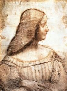 Isabella d'Este, szkic Leonardo da Vinci