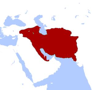 Największy zasięg imperium Partów około 60 roku p.n.e. / fot. Keeby101, CC-BY-SA-3.0