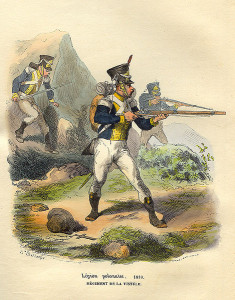 Żołnierz Legii Nadwiślańskiej w 1810 r.
