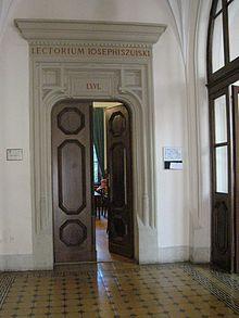 """Sala 56, w której aresztowano profesorów podczas """"Sonderaktion Krakau""""."""