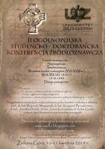 II Ogólnopolska Studencko-Doktorancka Konferencja Źródłoznawcza