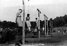 Egzekucja. Barkmann, Paradies, Becker, Klaff, Steinhoff (od lewej do prawej)