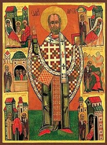 Ikona przedstawiająca świętego Mikołaja, biskupa Miry, pierwowzór postaci świętego Mikołaja