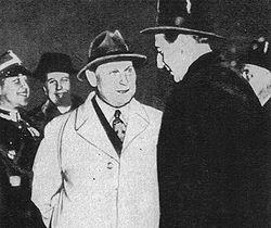 Wizyta Hermanna Göringa w Warszawie w 1937 roku. Od lewej: Göring, Beck