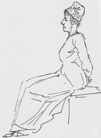 Maria Antonina w drodze na szafot, rysunek Jacques-Louis Davida z 16.10.1793