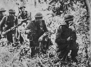 Polska piechota podczas bitwy o o Mont-Ormel (20 sierpnia 1944)