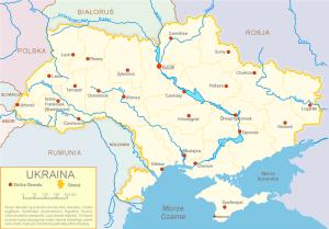 Współczesny podział administracyjny Ukrainy/fot. Sven Teschke, CC-BY-SA-3.0