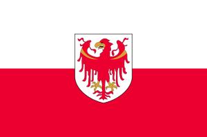Flaga Południowego Tyrolu / aut. Flanker CC-BY-SA-3.0