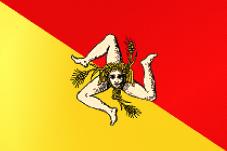 Flaga Regionu Sycylia / autor Sinigagl CC-BY-SA-3.0