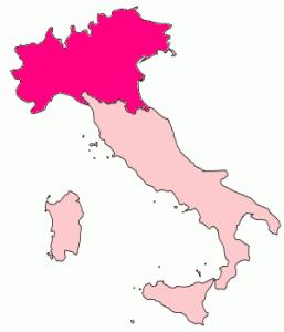 Granice postulowanego kraju Padanii aut. Bogdangiusca CC-BY-SA-3.0
