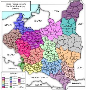 Podział terytorialny II RP w 1930 r.
