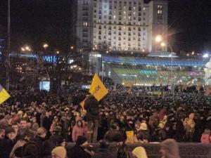 Plac Wolności w Kijowie podczas Pomarańczowej Rewolucji, fot. Gutsul, CC-BY-SA-3.0