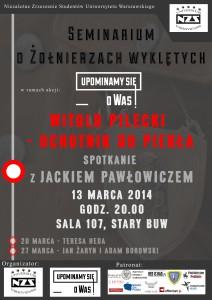 """""""Witold Pilecki – ochotnik do piekła"""". Spotkanie z Jackiem Pawłowoiczem na UW."""