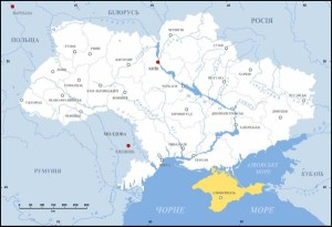 Krym na mapie Ukrainy/ fot.Alex Tora, CC-BY-SA-3.0