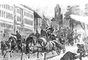 Warszawska Straż Ogniowa w drodze do pożaru