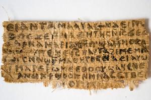 Papirus określany jako 'ewangelia żony Jezusa', fot. Karel L. King 2012 CC-BY-SA-3.0
