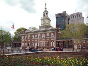 Independence Hall - miejsce, w którym podpisano Deklarację Niepodległości oraz Konstytucję Stanów Zjednoczonych.