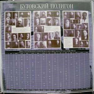 Jedna z plansz informacyjnych ze zdjęciami zamordowanych na poligonie Butowo, przesłał Arseniy.bocharov CC BY-SA 3.0