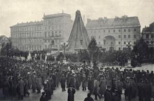 Odsłonięcie pomnika Adama Mickiewicza na Krakowskim Przedmieściu 1898