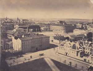 Widok z dachu kościoła ewangelickiego 1858