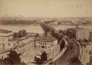 Zamek Królewski i Most Aleksandryjski 1870