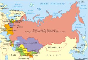 Mapa ZSRR