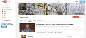 Kanał Yale na YT - wykład z historii Grecji antycznej, http://www.youtube.com/playlist?list=PL023BCE5134243987&feature=plcp